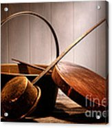 Old Pots And Pans Acrylic Print by Olivier Le Queinec