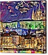 Old Prague Magic - Wallpaper Acrylic Print by Daniel Janda