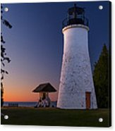 Old Presque Isle Lighthouse Acrylic Print by Thomas Pettengill