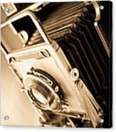 Old Press Camera Acrylic Print by Edward Fielding