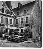 Old Quebec City Bw Acrylic Print