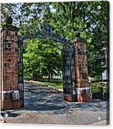 Old Queens Entrance Gate Acrylic Print