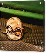 Old Racing Helmet Acrylic Print