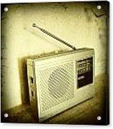 Old Radio Acrylic Print