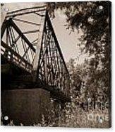 Old Rail Bridge Acrylic Print
