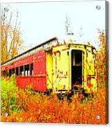 Old Rail Car Acrylic Print