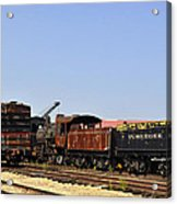 Old Railroad Cars From The Series View Of An Old Railroad Acrylic Print