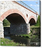 Old Railway Bridge In Silute. Lithuania. Summer Acrylic Print