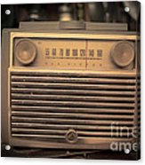 Old Rca Victor Antique Vintage Radio Acrylic Print