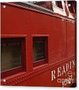 Old Reading Rr Caboose In Lititz Pa Acrylic Print