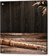 Old Recorder Acrylic Print by Olivier Le Queinec