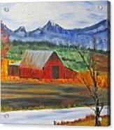 Old Red Barn Acrylic Print