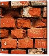 Old Red Brick Wall Acrylic Print