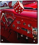 Old Red Chevy Dash Acrylic Print