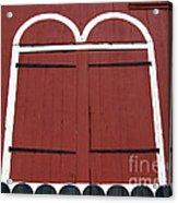 Old Red Kutztown Barn Doors Acrylic Print