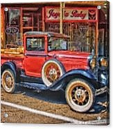 Old Red Pickup Truck Acrylic Print