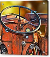 Old Red Tractor Ford 9 N Acrylic Print