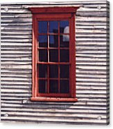 Old Red Window Acrylic Print