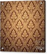 Old Retro Wallpaper In Sepia Acrylic Print