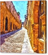 The Old Rhodes Town Acrylic Print