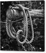 Old Rope Acrylic Print