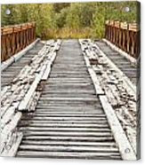 Old Rotten Abandoned Bridge Leading To Nowhere Acrylic Print
