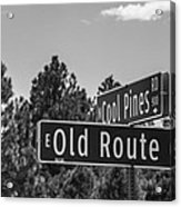 Old Route 66 And Cool Pines Acrylic Print