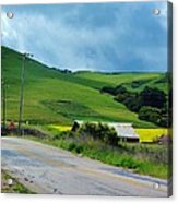 Old Rural Road On The Way To Heavenly Lands Acrylic Print