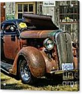 Old Rusty Car At The Old Shop  Ca5083a-14 Acrylic Print