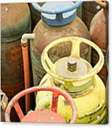Colorful Fire Extinguishers Acrylic Print