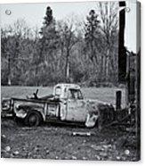 Old Rusty Gmc Pickup Acrylic Print