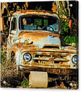 Old Rusty International Flatbed Truck Acrylic Print