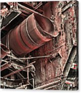 Old Rusty Pipes Acrylic Print