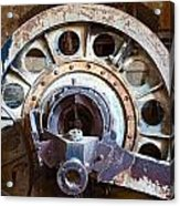 Old Rusty Vintage Industrial Machinery Acrylic Print