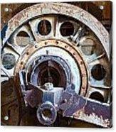 Old Rusty Vintage Industrial Machinery Acrylic Print by Dirk Ercken
