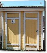 Old Sacramento California Schoolhouse Outhouse 5d25549 Acrylic Print by Wingsdomain Art and Photography