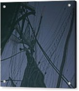 Old Sailing Ship Reflected Acrylic Print