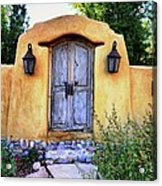 Old Santa Fe Gate Acrylic Print