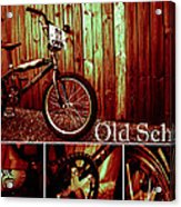Old School Bmx - Pk Collage Colour Acrylic Print