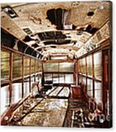Old School Bus In Motion Hdr Acrylic Print
