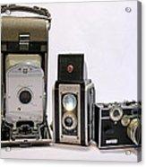 Old School Cameras Acrylic Print
