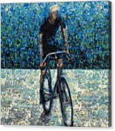 Old School Riding Acrylic Print by Ned Shuchter