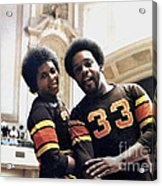 Old School Roller Derby With Delores Tucker And Alvin Mallory Of The San Francisco Bay Bombers Acrylic Print
