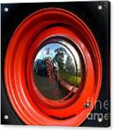 Old School Wheel And New Reflection Acrylic Print