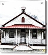 Old Schoolhouse Chester Springs Acrylic Print