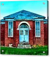 Old Schoolhouse Acrylic Print by Julie Dant