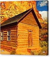Old Schoolhouse Near Capital Reef Utah Acrylic Print by Jeff Swan