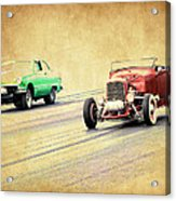 Old Scool Racing Acrylic Print