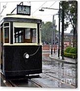Old Shanghai Trolley Tram Car Rests In Tracks Acrylic Print