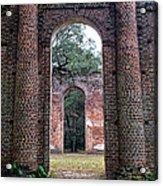 Old Sheldon Ruins Archway Acrylic Print